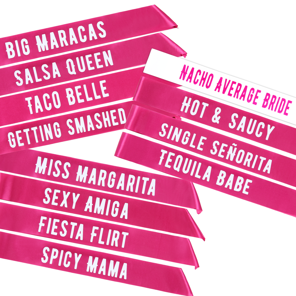 Final Fiesta Bachelorette Party Sashes