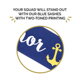 Nautical Bachelorette Sashes