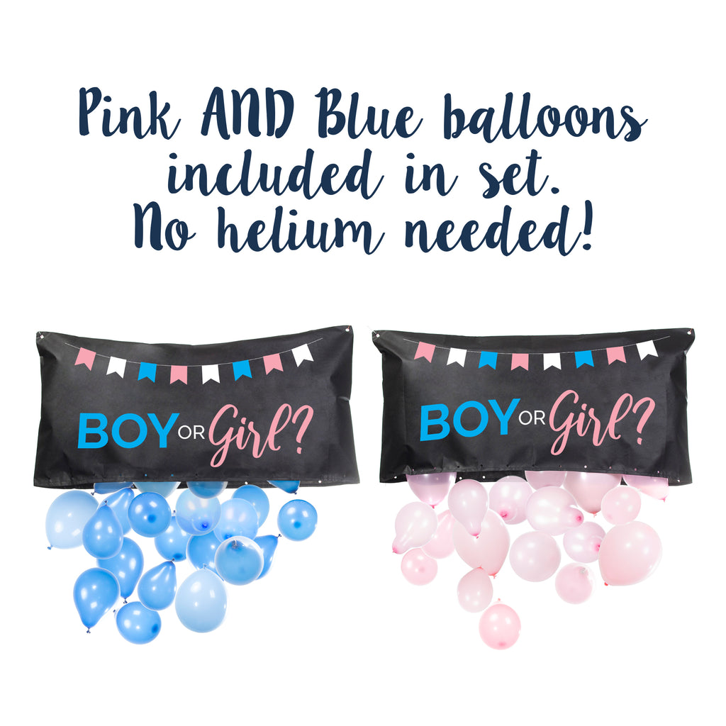 Gender Reveal Balloon Drop Bag | Boy or Girl?