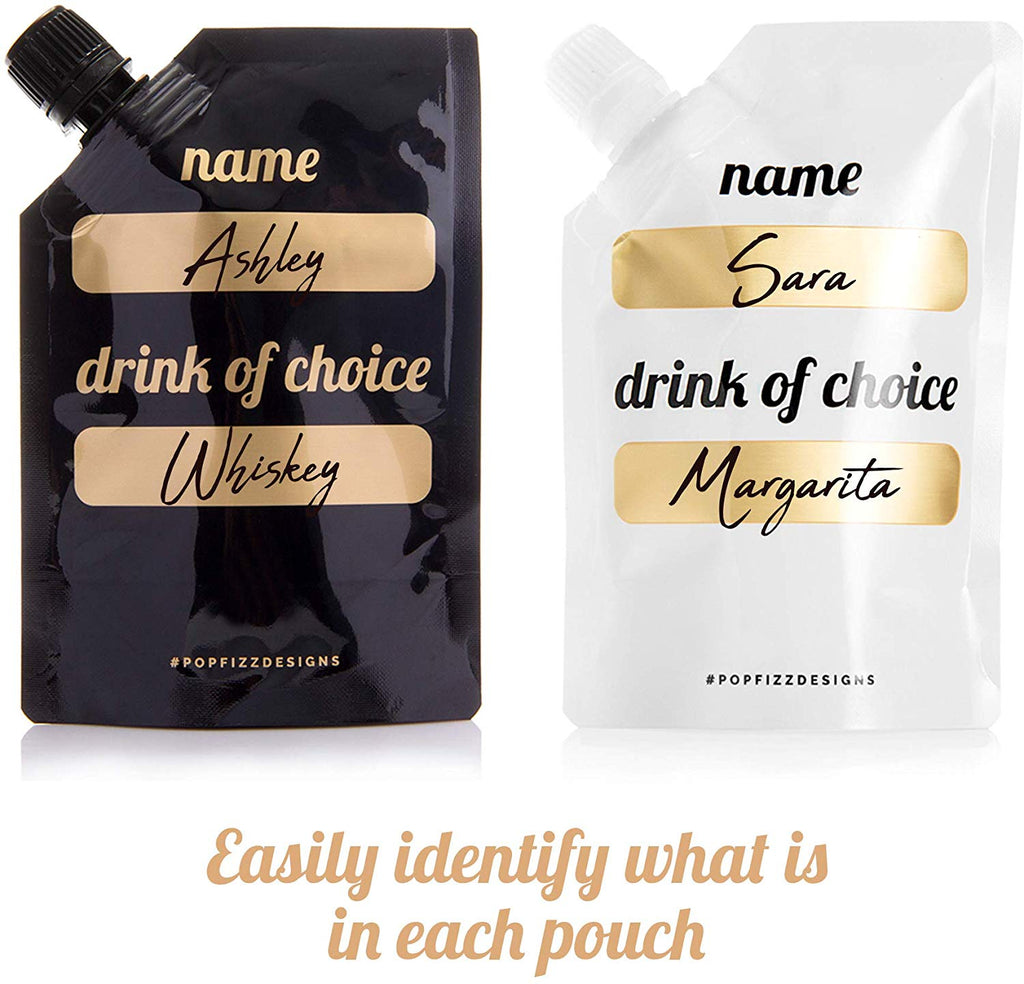Bachelorette Flask Set- 10 Bride Tribe Disposable Flasks and 2 Bride to Be Flask
