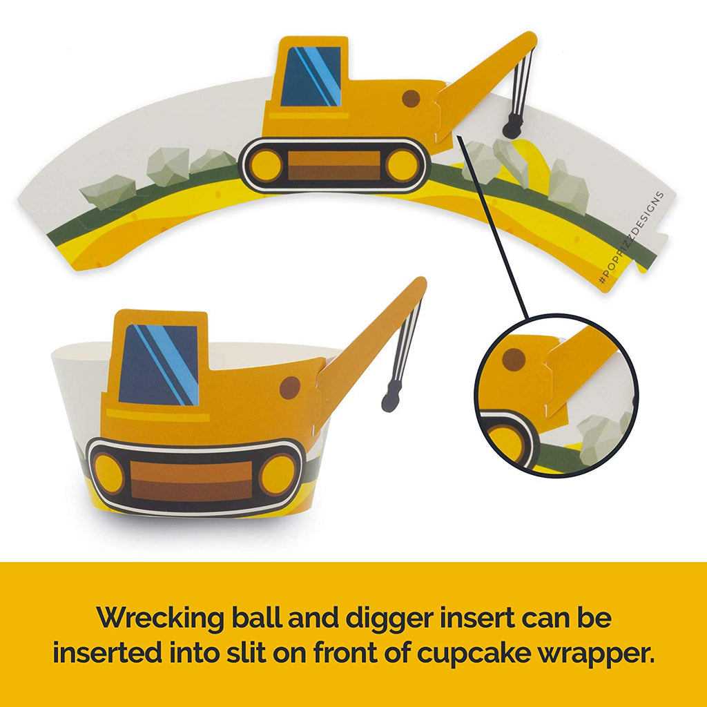 Construction Party Cupcake Wrappers (set of 24)