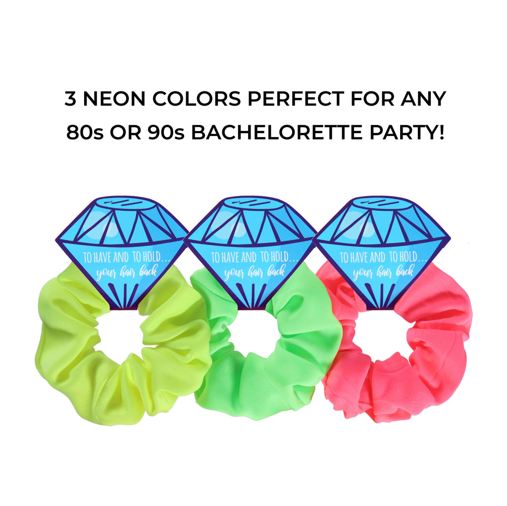 80s Neon Bridesmaid Scrunchies