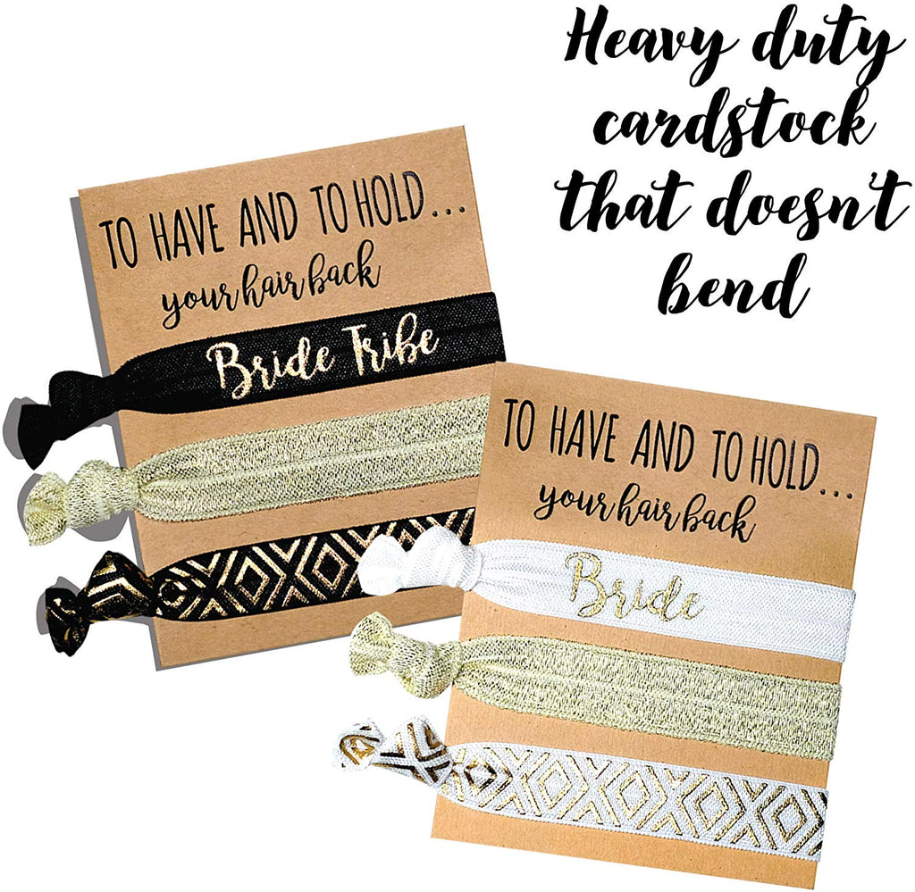Black/Gold Hair Ties