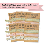 Bridesmaid Hair Tie Cards | Pink & Gold