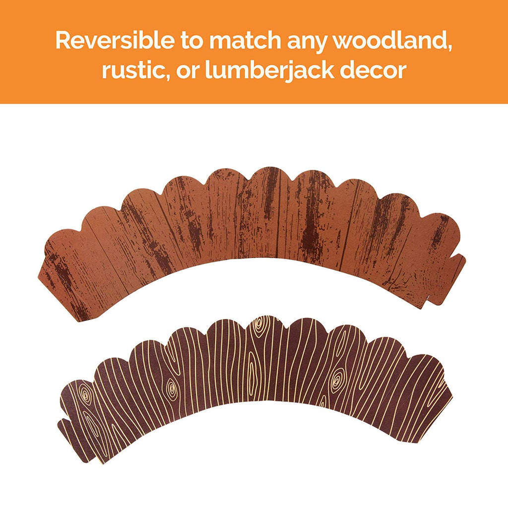 Reversible Woodgrain Cupcake Wrappers (Set of 36)