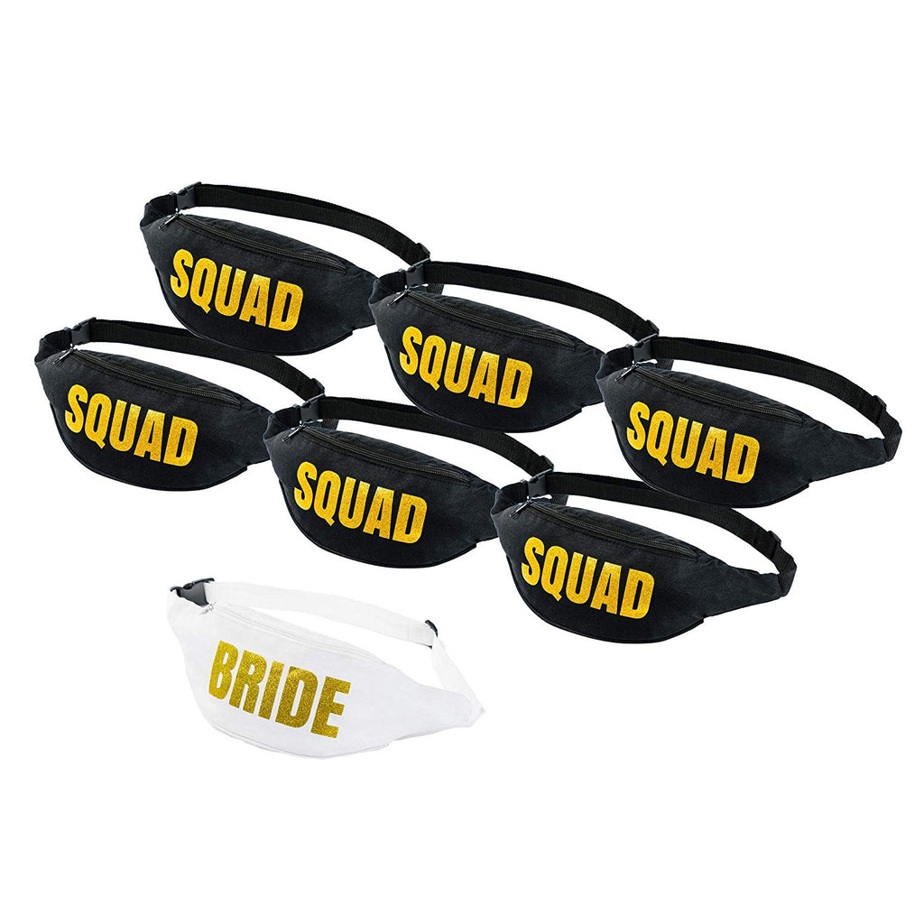 Squad Bachelorette Fanny Pack Sets- Block Text