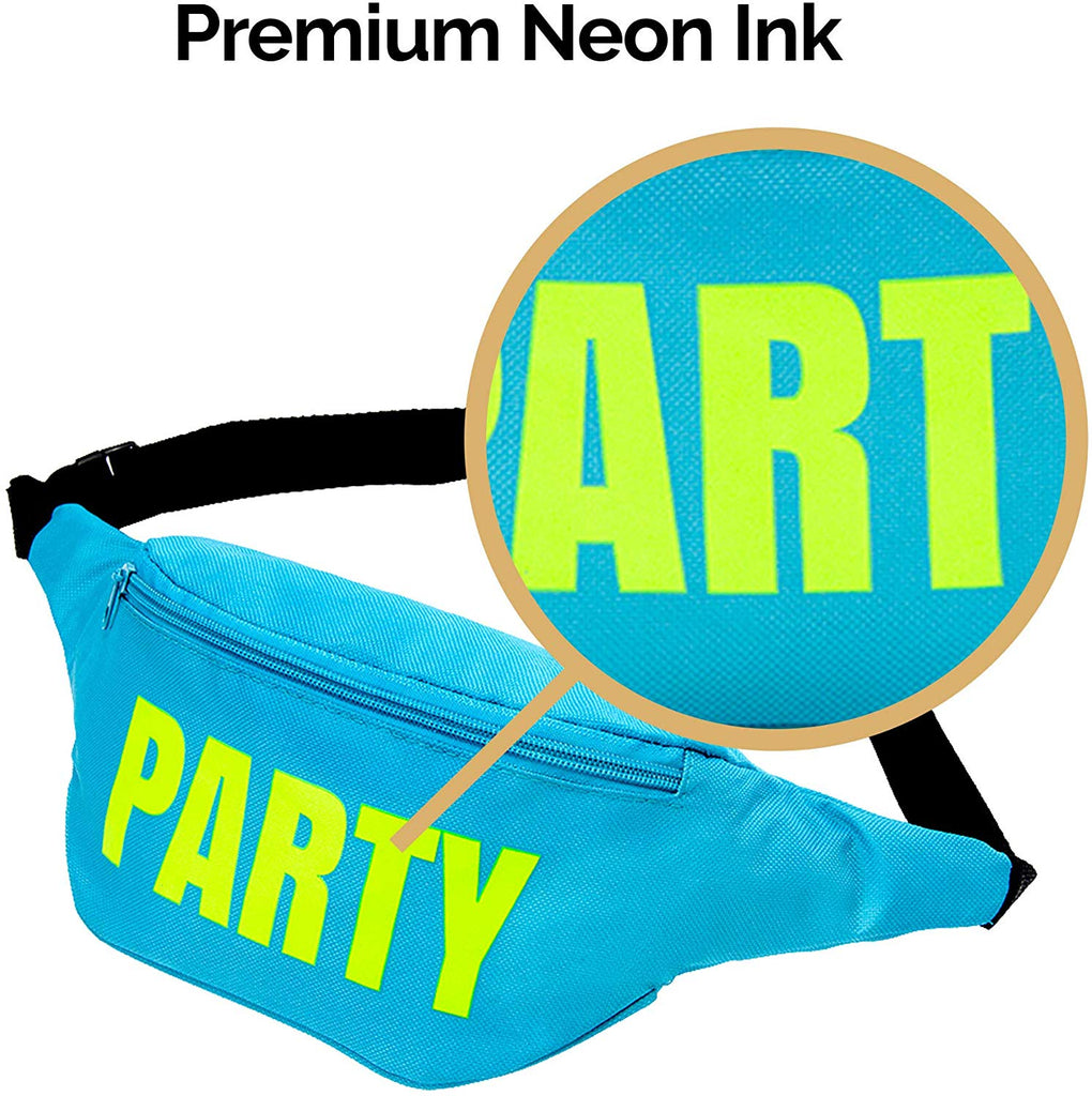 Bachelorette Neon Fanny Pack Set - Wife of the Party Pack