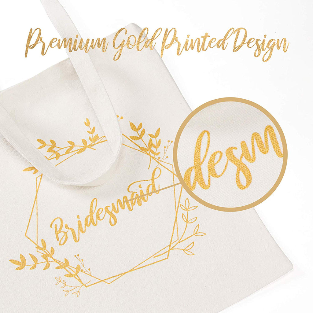 Bridesmaid Bags - White and Gold | 1 Maid of Honor Bag | Bride Bag