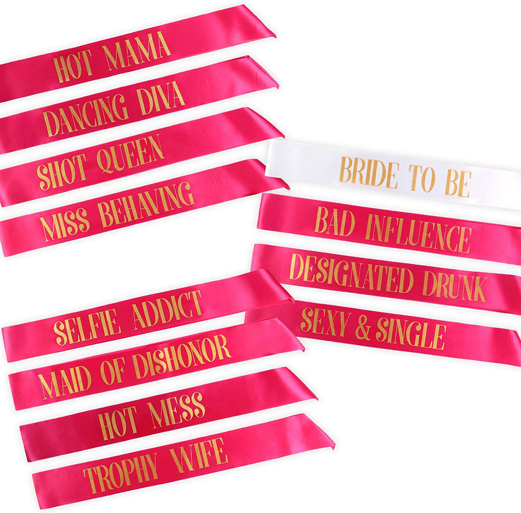 Bachelorette Party Sashes- Bride to Be and Bride Tribe Sashes