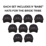 Bride Tribe Babe Bridesmaid Baseball Hats