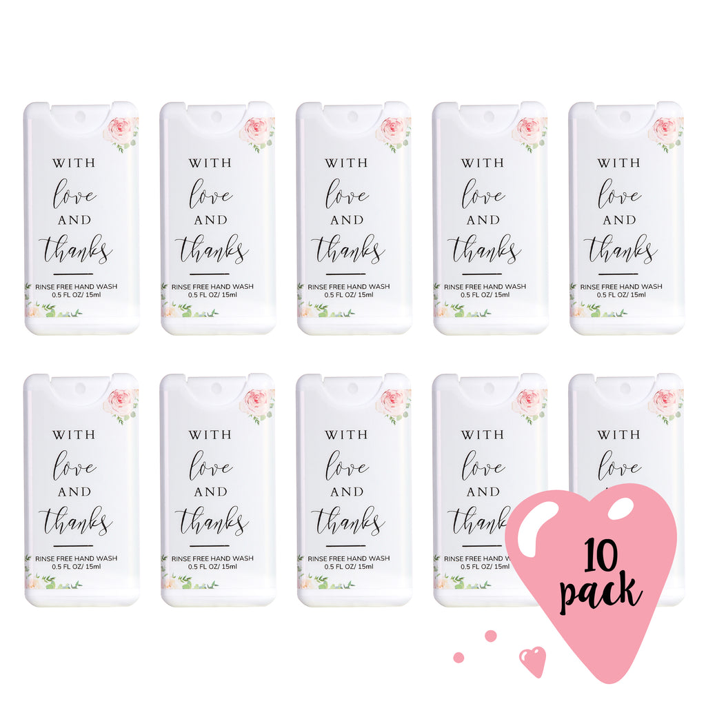 Wedding Hand Sanitizer Party Favors | 10 pack