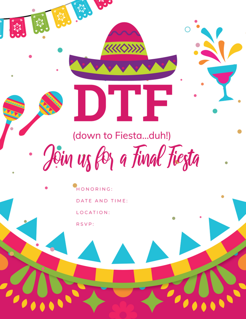 Down to Fiesta Free Printable Invite