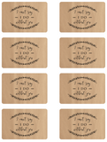 Kraft Mini Wine Bottle Label Free Printable