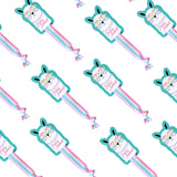 10 Pack of Unicorn Hair Ties- Unicorn Party Favors for Girls Pink