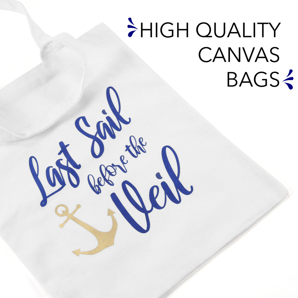 Bridesmaid Nautical Canvas Bags