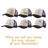 Bridesmaid Trucker Hats w/ Funny Phrases