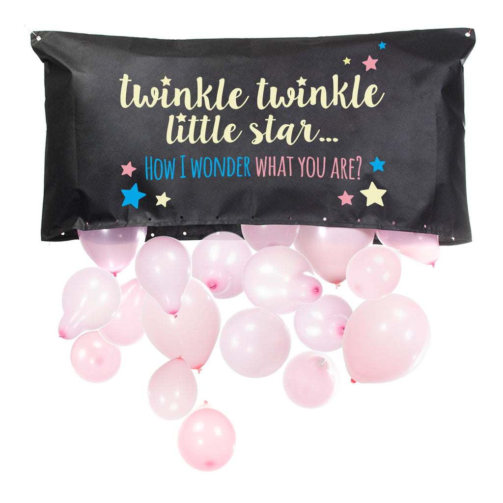 Gender Reveal Balloon Drop Bag | Twinkle, Twinkle Little Star