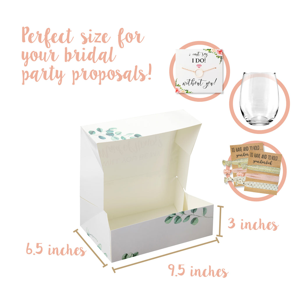 Greenery with Rose Gold Foil Bridesmaid Box Set