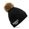 Barry's Tea Bobble Beanie Hat in Black