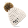 Barry's Tea Bobble Beanie Hat in Oatmeal