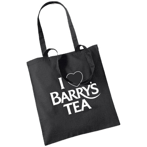 I LOVE BARRY'S TEA BLACK TOTE BAG