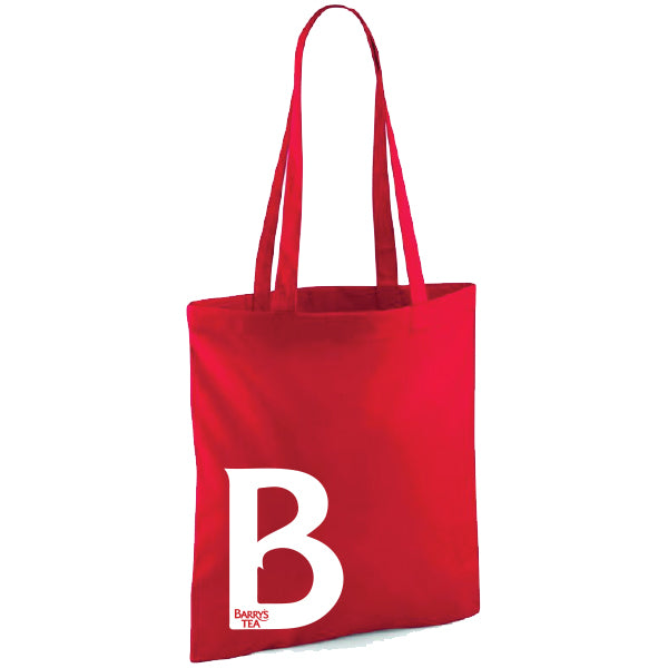 BARRY'S TEA 'B' RED TOTE BAG