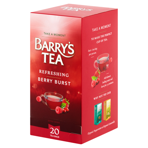 **NEW** BERRY BURST 20 STRING & TAG TEABAGS