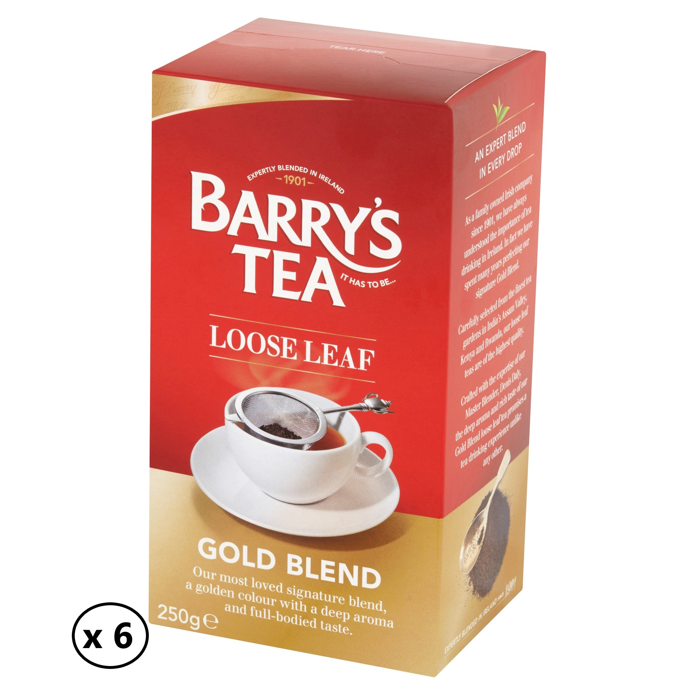 GOLD BLEND LOOSE LEAF TEA 250g (6 PACK)