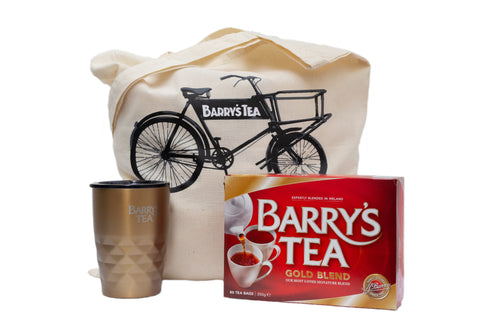 ON THE GO BUNDLE - GOLD 80s, BRONZE TRAVEL MUG & BICYCLE TOTE BAG