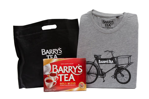 TEA & TEE BUNDLE - GOLD 80s & BICYCLE T- SHIRT