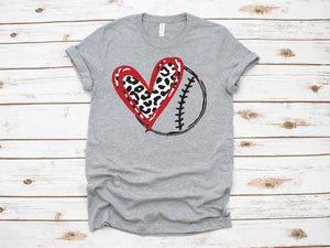 Baseball Heart Graphic T