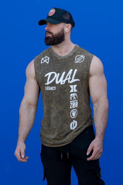 Dual Legacy Muscle Tank- Acid Wash