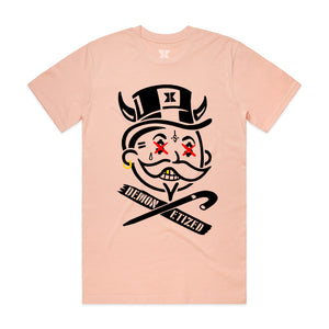 Dual Demonetized LIMITED EDITION T-Shirt - Pale Pink