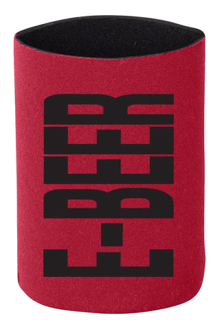 Dual E-BEER Koozie- Red