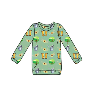 Green Fingers Long Sleeve Top