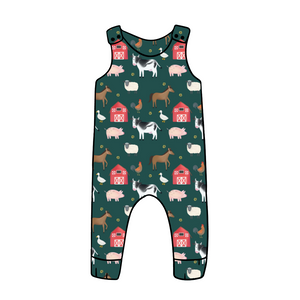 Farmyard Long Romper