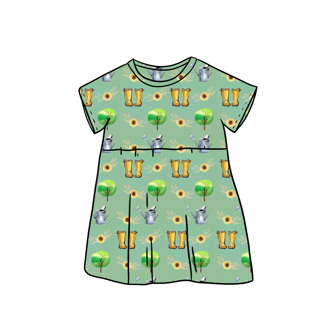 Green Fingers Tee Dress
