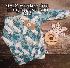 6-12 Winter Fox Long Sleeve Top