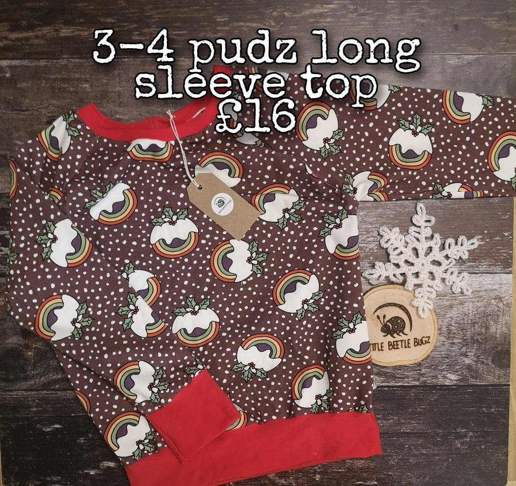 3-4 Pudz Long Sleeve Top