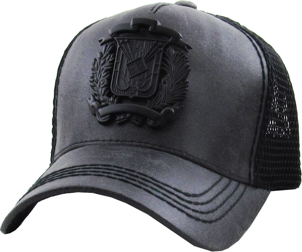 Dominican Republic Emblem Ballcap One Size Adjustable