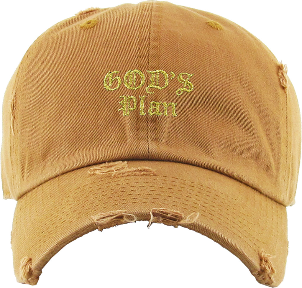 GOD'S PLAN EMBROIDERY VINTAGE DAD HAT