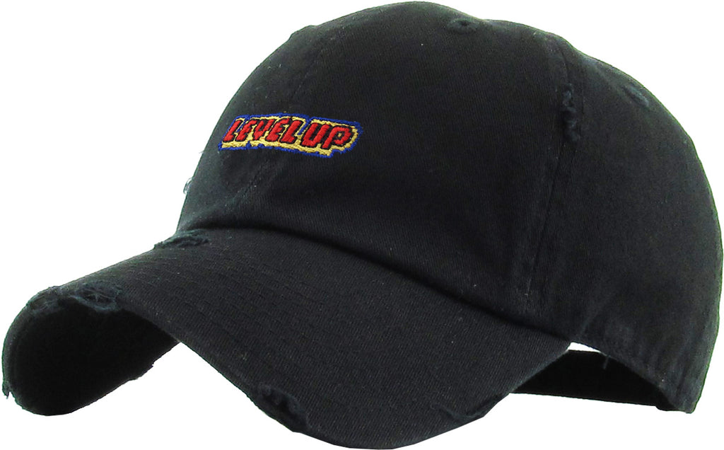 LEVEL UP EMBROIDERY VINTAGE DAD HAT