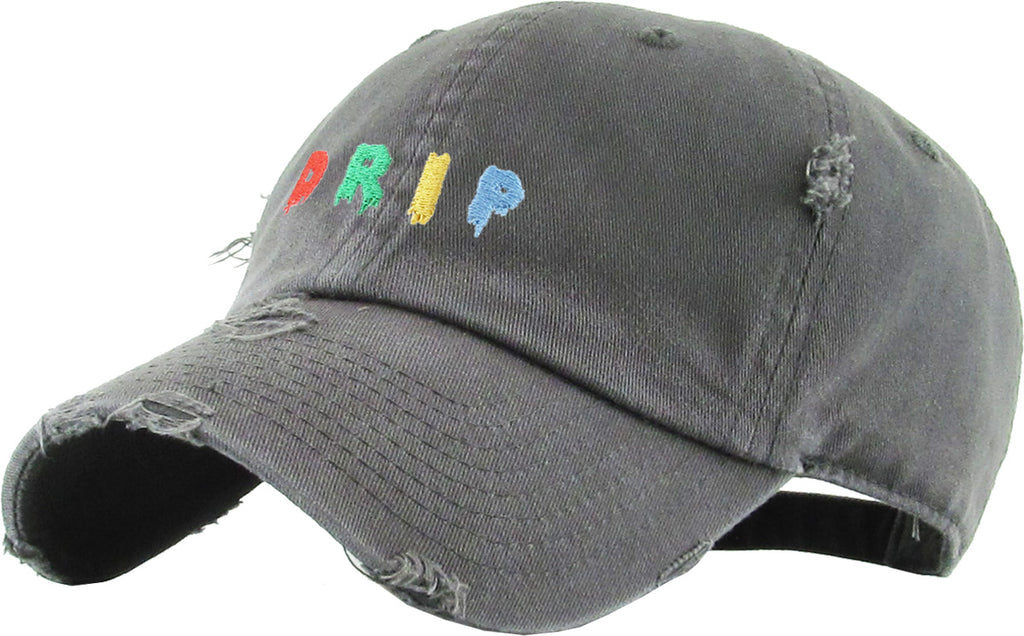 VINTAGE DAD HAT DRIP EMBROIDERY