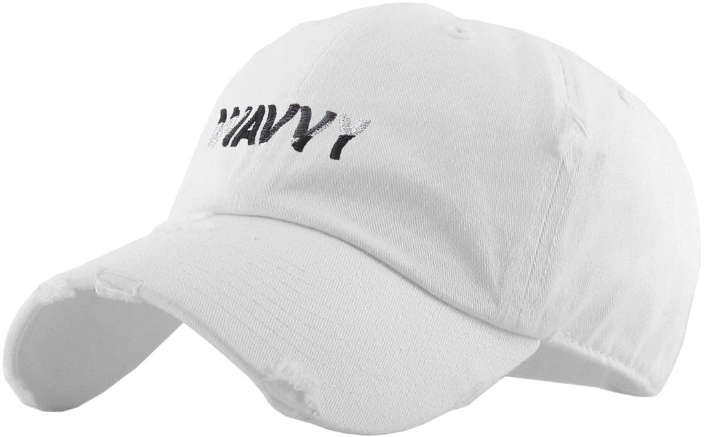 WAVVY EMBROIDERY VINTAGE DAD HAT