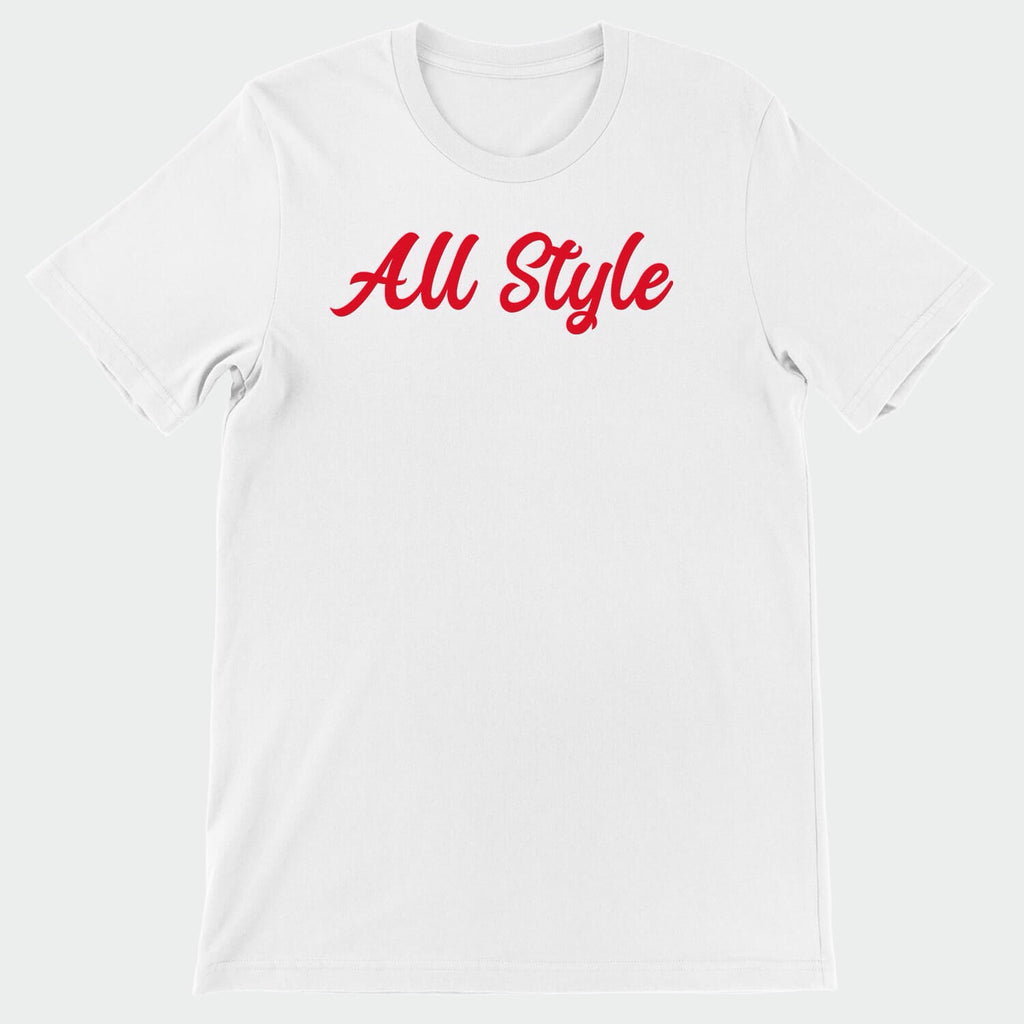 All Style Brand White & Red T-Shirt