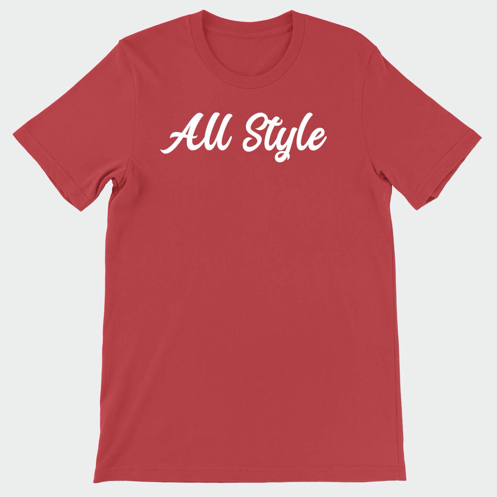 All Style Brand Red & White T-Shirt
