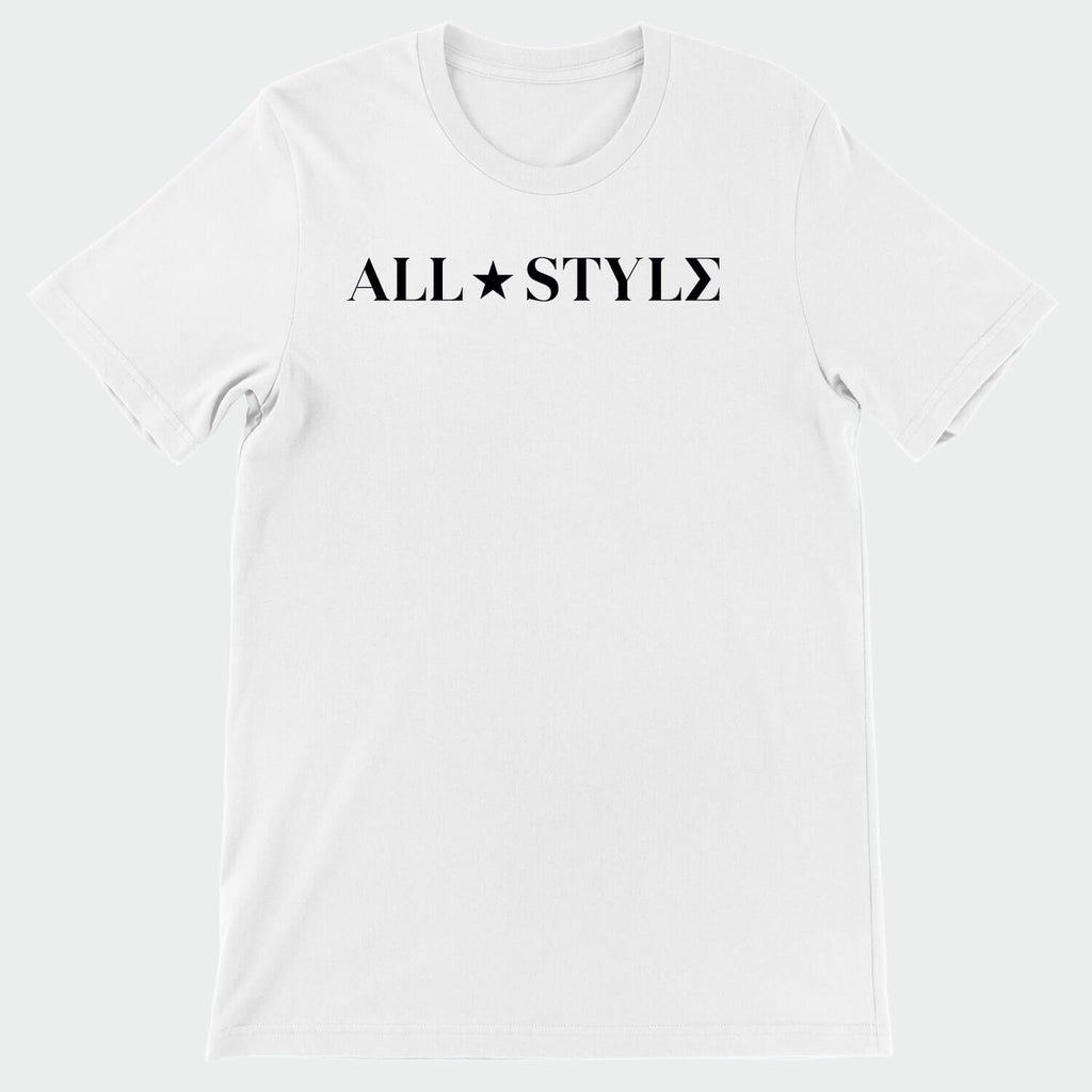 All Style White & Black T-Shirt