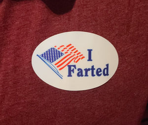"""I Farted"" sticker"