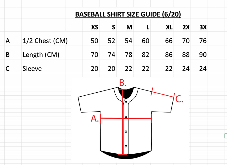 TIP HOP BASEBALL JERSEY (XS/S ONLY)