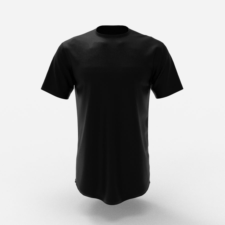 HYPR CLOTH v3 Black Scoop Short Sleeve